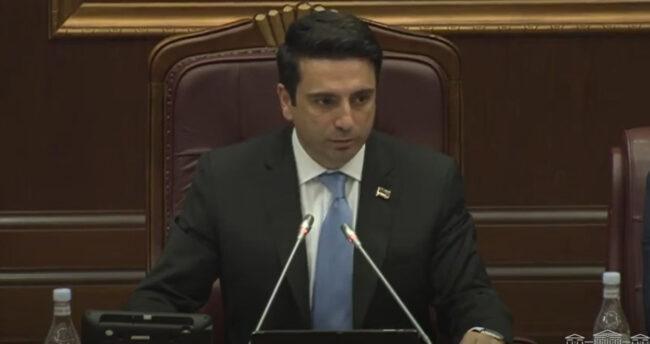 Armenia -- Speaker of National Assembly Alen Simonyan, Yerevan, 11Aug2021